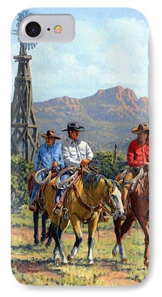 Three Riders Phone Case by Randy Follis