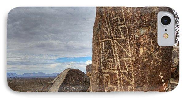 Three Rivers Petroglyphs 4 Phone Case by Bob Christopher