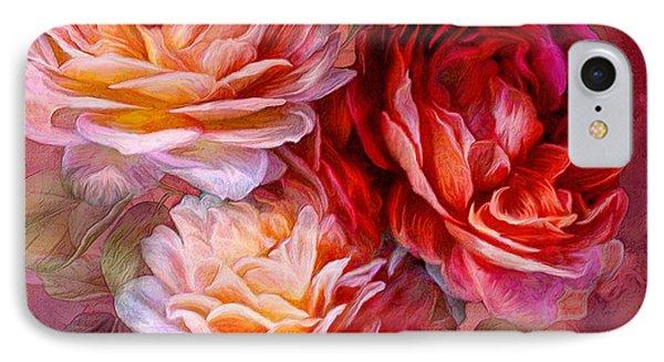 Three Roses - Red IPhone Case by Carol Cavalaris
