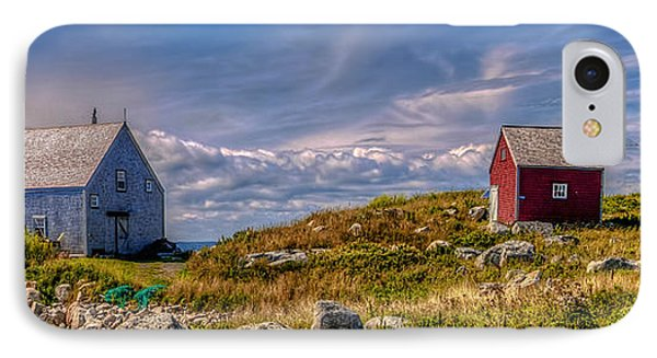 Three Shacks By The Sea IPhone Case by Ken Morris