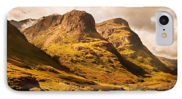 Three Sisters. Glencoe. Scotland Phone Case by Jenny Rainbow