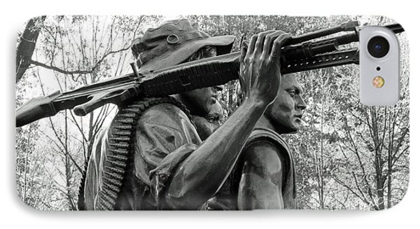 Three Soldiers In Vietnam IPhone Case by Cora Wandel