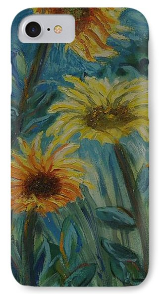 Three Sunflowers - Sold IPhone Case by Judith Espinoza