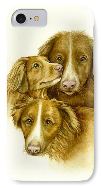 Three Toller Dogs IPhone Case by Nan Wright