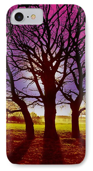 IPhone Case featuring the digital art Three Trees by David Davies