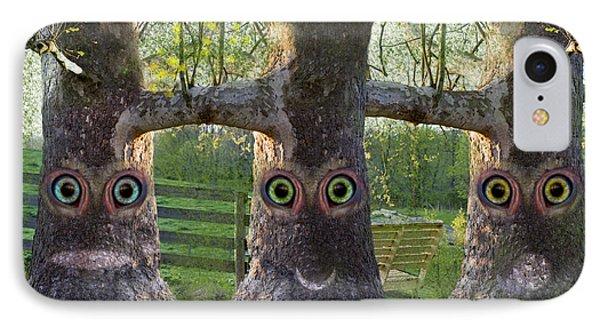 Three Trees IPhone Case by Betsy Knapp