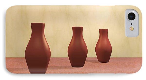 IPhone Case featuring the digital art Three Vases by Gabiw Art