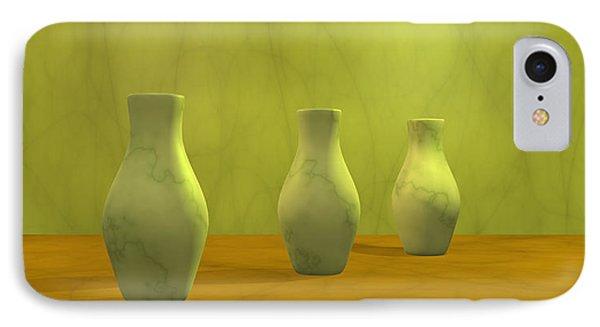 IPhone Case featuring the digital art Three Vases II by Gabiw Art