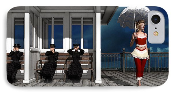 Three Victorian Ladies And The Scandal IPhone Case by Britta Glodde