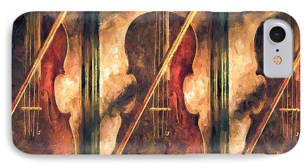 Three Violins IPhone Case by Bob Orsillo