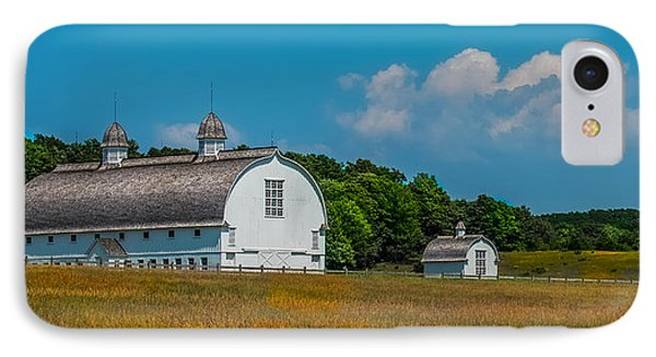 Three White Barns IPhone Case by Paul Freidlund