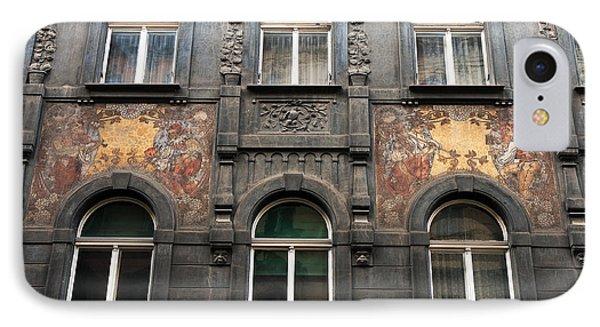 Three Windows In Prague Phone Case by John Rizzuto
