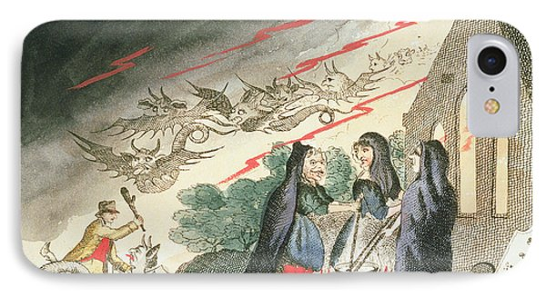 Three Witches In A Graveyard, C.1790s IPhone Case
