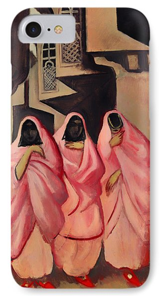 Three Women On The Street Of Baghdad IPhone Case by Mountain Dreams