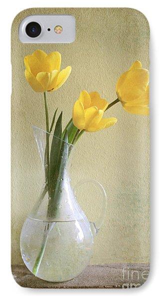 Three Yellow Tulips Phone Case by Diana Kraleva