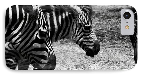 IPhone Case featuring the photograph Three Zebras by Tom Brickhouse