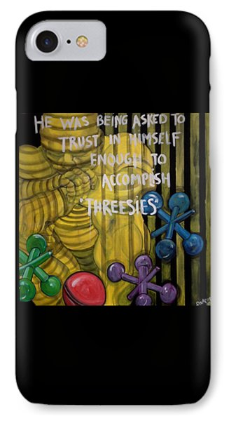 Threesies Phone Case by Darlene Graeser