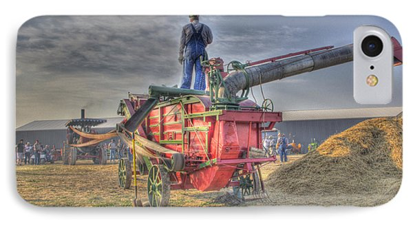 Threshing At Rollag IPhone Case by Shelly Gunderson