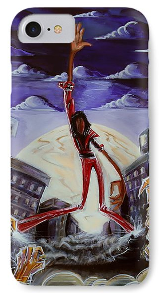 IPhone Case featuring the painting 'thriller V3' by Tu-Kwon Thomas