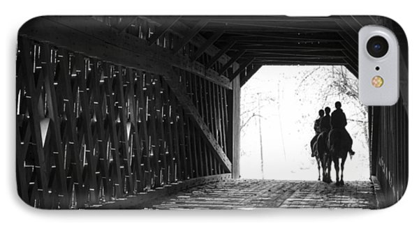 IPhone Case featuring the photograph Through A Covered Bridge by Phil Abrams