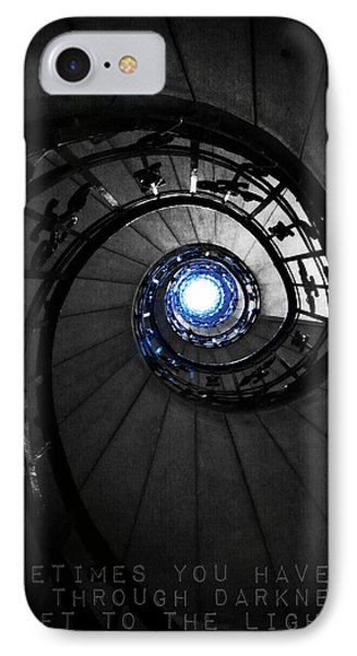 Through Darkness To Light... IPhone Case by Marianna Mills
