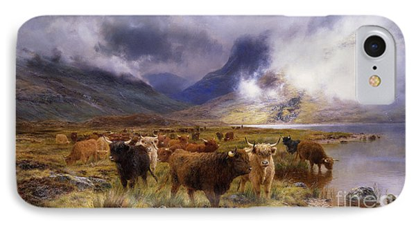 Through Glencoe By  Way To The Tay IPhone Case by Louis Bosworth Hurt