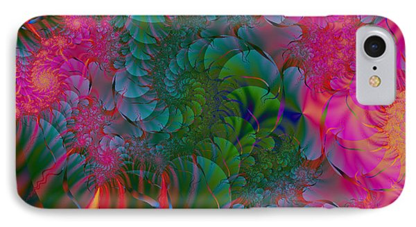 IPhone Case featuring the digital art Through The Electric Garden by Elizabeth McTaggart