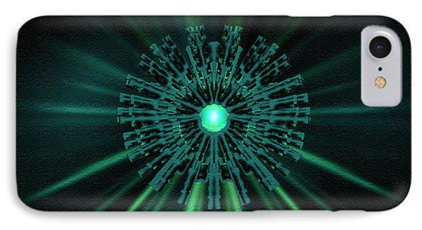 IPhone Case featuring the digital art Through The Emerald Eye by Charmaine Zoe