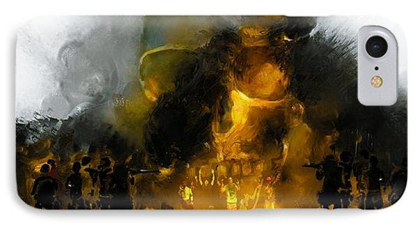 Through The Fire  IPhone Case by Howard Barry