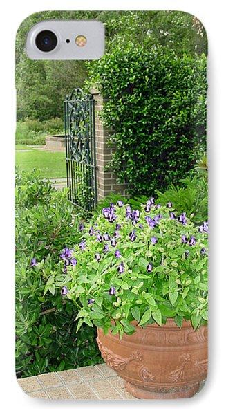 Through The Garden Gate Phone Case by Suzanne Gaff
