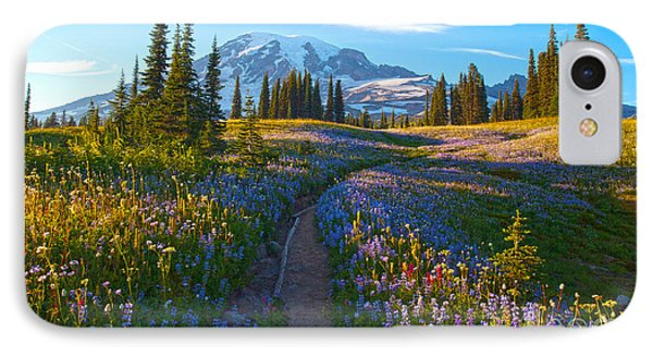 Through The Golden Meadows Phone Case by Mike Reid