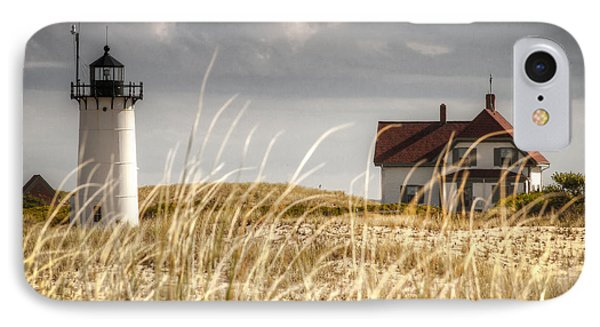 Race Point Light Through The Grass IPhone Case by Brian Caldwell