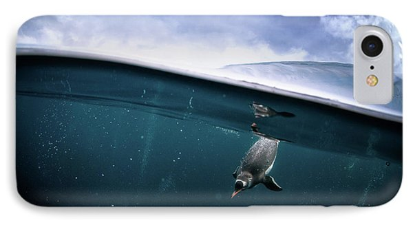 Penguin iPhone 7 Case - Through The Interface by Justin Hofman