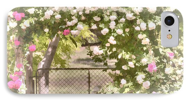 IPhone Case featuring the photograph Through The Rose Arbor by Elaine Teague