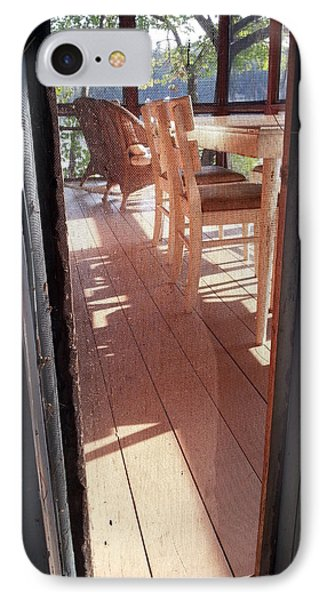 Through The Screen No 2 IPhone Case by Lon Casler Bixby