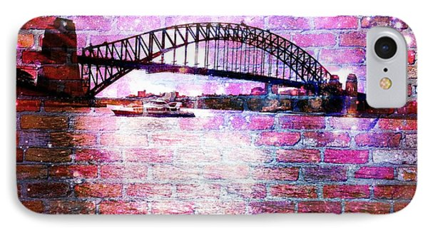 Sydney Harbour Through The Wall 1 IPhone Case by Leanne Seymour