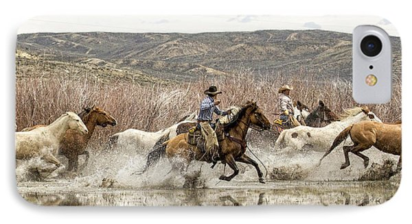 Through The Water I IPhone Case by Joan Davis
