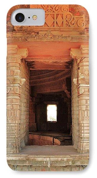 When Windows Become Art - Jain Temple - Amarkantak India Phone Case by Kim Bemis