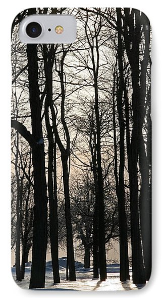 Through The Winter Trees Phone Case by Heather Allen