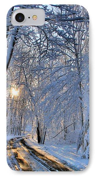 Through The Woods Phone Case by Kristin Elmquist
