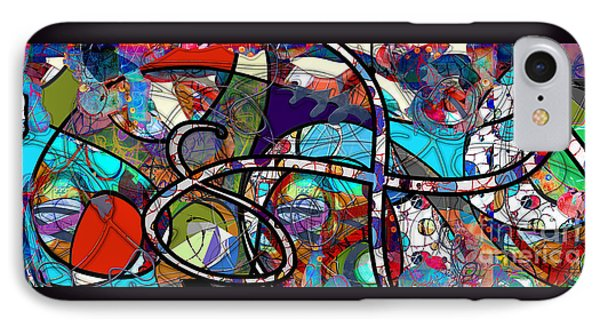 IPhone Case featuring the digital art Through The Wormhole by Gabrielle Schertz