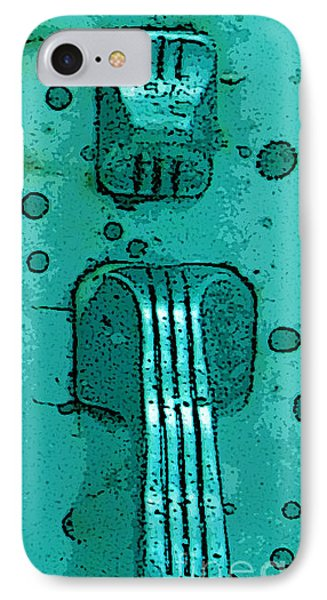Thumb Slide For A Painter In Teal Phone Case by Cathy Peterson