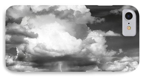 Thunder And Lightning IPhone Case by Leland D Howard