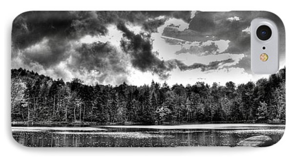 Thunderclouds Over Cary Lake Phone Case by David Patterson