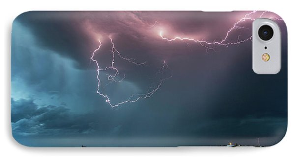 Thunderstorm At Dusk IPhone Case by Roger Hill