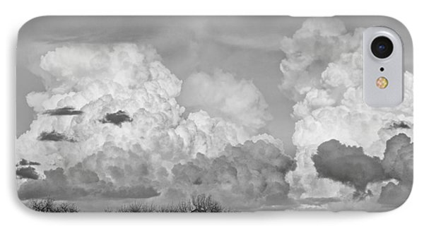 Thunderstorm Clouds And The Little House On The Prarie Bw Phone Case by James BO  Insogna