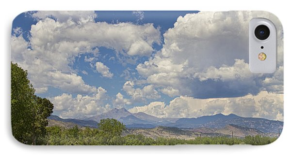 Thunderstorm Clouds Boiling Over The Colorado Rocky Mountains IPhone Case