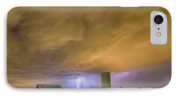 Thunderstorm Hunkering Down On The Farm IPhone Case by James BO  Insogna