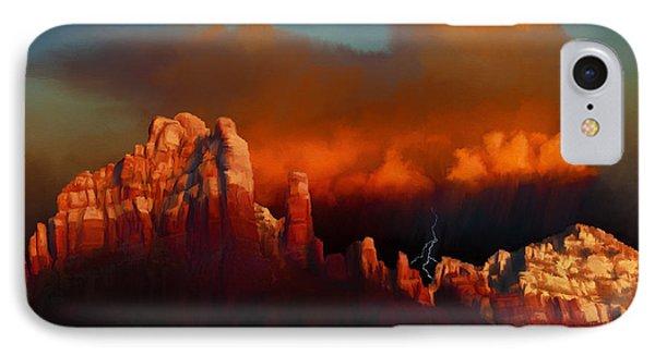 Thunderstorm Over Sedona Phone Case by Dale Jackson