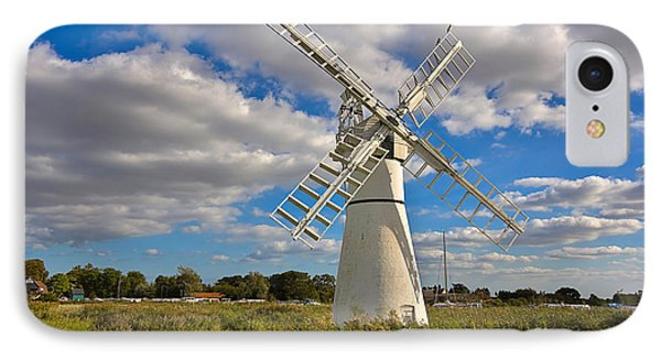 Thurne Dyke Windpump On The Norfolk Broads Phone Case by Louise Heusinkveld